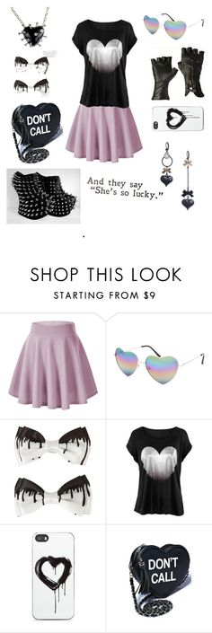 """pastel goth maybe"" by batty-belle ❤ liked on Polyvore featuring Balmain, Full Tilt, Zero Gravity, Betsey Johnson, women's clothing, women, female, woman, misses and juniors"