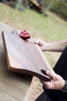 110. Extra Large Black Walnut Wood Handcrafted Cutting Board