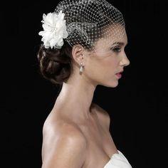 White Tulle juliet cap Bird Cage Wedding Accessories Veil Bridal Birdcage Wedding Veils Short Contact Second Hand Rose LLC for ordering information. 269-414-4419