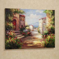 Tuscan Summer Handpainted Canvas Art