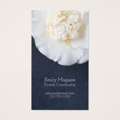 #White camellia flower with room for text business card - #floral #gifts #flower #flowers