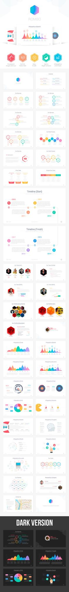 Rombo  Powerpoint Template — Powerpoint PPT #stats #Rombo • Available here → https://graphicriver.net/item/rombo-powerpoint-template/8637622?ref=pxcr