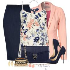 Floral Camisole For Spring by ccroquer on Polyvore featuring Wallis, A|Wear, Donna Karan, Jimmy Choo, Aspinal of London, One Button, Irene Neuwirth and FOSSIL