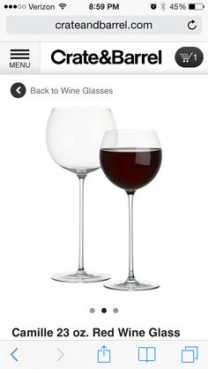 """Wine glasses featured on """"Scandal"""""""