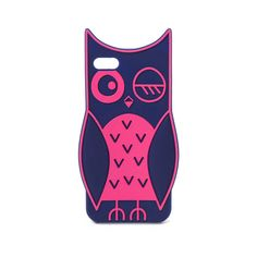 Two Tone Owl Phone Case (120 BRL) ❤ liked on Polyvore featuring accessories and tech accessories