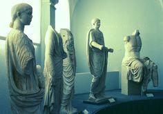 Roman statues from Roselle #maremma #tuscany #art #arte #archeologia #archaeology