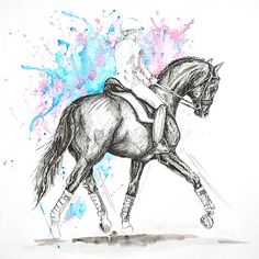 MZ - horse art: Dressage III