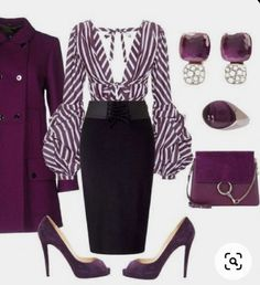 A fashion look from January 2018 featuring Johanna Ortiz blouses, FAY coats and Miss Selfridge skirts. Browse and shop related looks. Classy Outfits, Stylish Outfits, Beautiful Outfits, Mode Outfits, Fashion Outfits, Womens Fashion, Work Fashion, Fashion Looks, Fashion Beauty