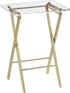 gold & acrylic folding table