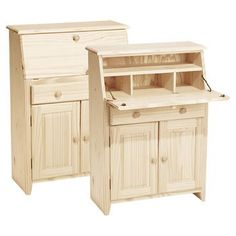 Secretary desks on Pinterest | Solid Pine, Writing Desk and Wood ...