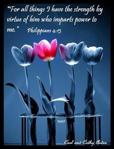 Philippians 4:13 ~ power by the Holy Spirit