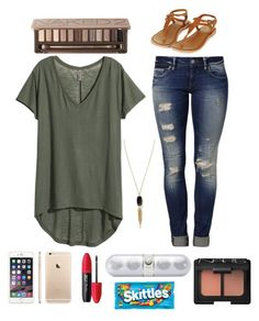 """""""Untitled #42"""" by madi2003-i on Polyvore featuring H&M, Mavi, Urban Decay, Topshop, Kendra Scott, Revlon, Beats by Dr. Dre and NARS Cosmetics"""