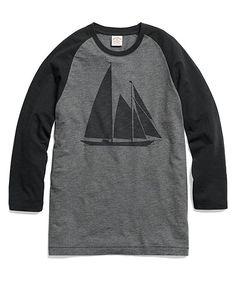 Sailboat Baseball Tee Shirt - Brooks Brothers