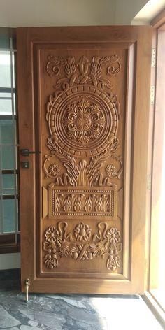 Is this nicely Wood Front Doors, Door Design Photos, Front Door Design Wood, Door Glass Design, Wood Design, Front Door Design