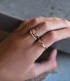 14kt gold and diamond It's Written in The Stars vintage signet ring – Luna Skye by Samantha Conn