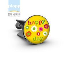 """plopp Waschbeckenstöpsel  """"happy day"""" yellow #plopp #bath #bathroom #Badezimmer #Geschenkidee"""
