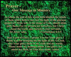 Prayer - Our Message in Ministry
