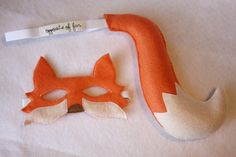 I want to be this for Halloween : Orange Fox Mask & Tail ADULT by oppositeoffar on Etsy, $36.00