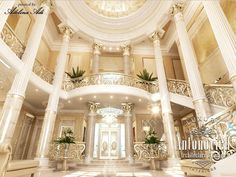 Entry way to luxury home. Million dollar home design. Luxury home interior.