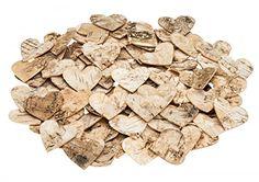 NaDeco® Birkenrinden Herzen 4cm 80Stk.   Birkenherz   Birken Herzen   Herzen aus Birkenrinde   Dekoherzen   Streuherzen   Holzherzen   Streuteile