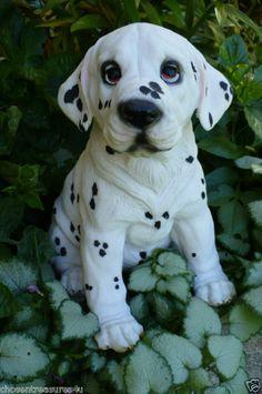 DOG STATUE DALMATIAN FIGURINE PUPPY 7 IN. RESIN NEW