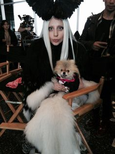 Lady Gaga on the set of G.U.Y.