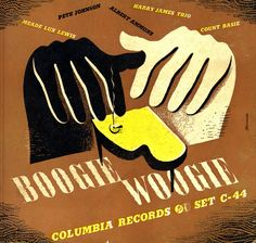 Alex Steinweiss - Album cover for Boogie Woogie.