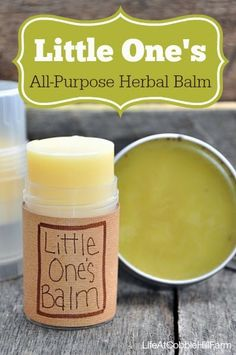 Life At Cobble Hill Farm: All-Purpose Herbal Balm/Salve for Little One's
