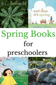 Spring Books for Preschoolers - Cathy Fuchs - Spring Books for Preschoolers New and old favorites spring preschool books. Explore the spring weather, baby animals, and activities perfect for spring through these picture books. Preschool Learning Activities, Preschool Books, Spring Activities, Reading Activities, Reading Lists, Book Lists, Science Books, Kindergarten Reading, Preschool Kindergarten