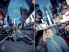 Engagement photo shoot NYC - Times Square; New York Photo - Session price : $350 - $500 with printing rights.