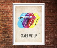 The Rolling Stones Limited Edition Art Print on Etsy, $22.49