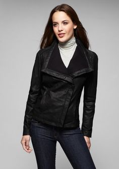 NICOLE MILLER Buff Leather Jacket