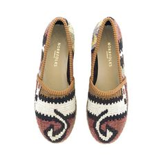 Coolest espadrillos with patterns from Swedish Norrfolks, made of vintage kilims - str. 39