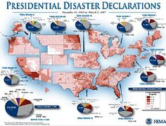 A FEMA map showing county by county counts of Presidential declared disasters for the period It is easy to think of prepping as being one single set of actions, designed to prepare for an… Homestead Survival, Camping Survival, Outdoor Survival, Survival Prepping, Survival Skills, Survival Gear, Doomsday Survival, Doomsday Preppers, Survival Shelter