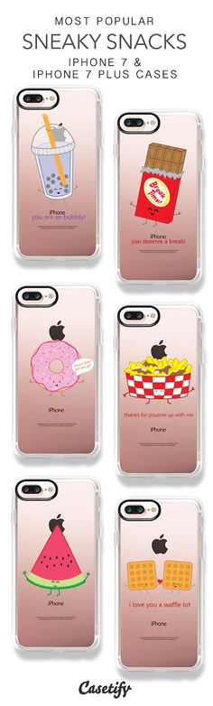 Most Popular Sneaky Snacks iPhone 7 Cases & iPhone 7 Plus Cases here > https://www.casetify.com/queeniescards/collection