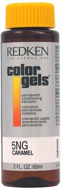 redken - color gels permanent conditioning haircolor 5ng - caramel (2 oz.)