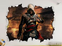 Assassins Creed Wall Vinyl Sticker Poster - Game Room Bedroom Man Cave Mural in Home, Furniture & DIY, Home Decor, Wall Decals & Stickers | eBay