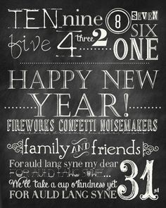 Free New Years Printable by the36thavenue.com So fun!