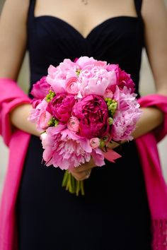 Pink Peony Bouquet.  Pinned by Afloral.com.  Find more DIY wedding bouquets and ideas on Afloral.com DIY Design Ideas Page.