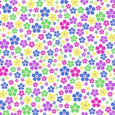 Stoffdesign:Bunte Blumen
