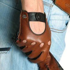 Men leather gloves