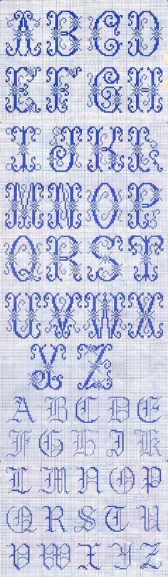 26 letters of the alphabet cross stitch sample ~ ~