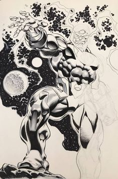 Comic Book Artists, Comic Artist, Comic Books Art, Dc Comics Art, Anime Comics, Illustrations And Posters, Character Art, Character Sketches, Cool Artwork