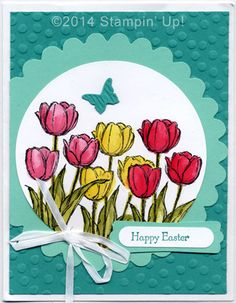 Stampin' Up! Cards - Blessed Easter and Teeny Tiny Wishes stamp sets, Decorative Dots Embossing Folder, Beautiful Wings Embosslits