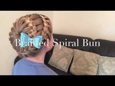 The Braided Spiral Bun hair tutorial by Two Little Girls Hairstyles - YouTube