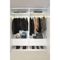 white closet ❤ liked on Polyvore featuring rooms