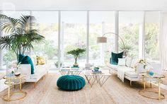 #livingroom | Carefree and quirky Palm Springs-style oasis | Style at Home