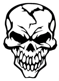 Buy Cool Skull Vinyl Decal Sticker Cracked Human Head Skull Motorcycle Stickers Moto Decals helmet Stickers Decoration at Wish - Shopping Made Fun Skull Artwork, Sketches, Skull Art, Drawings, Tribal Skull, Skull Stencil, Art, Skull Decal, Vector Art