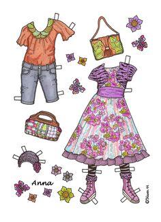Karen`s Paper Dolls: Anna