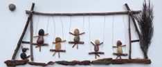 Awesome shadowbox showing all the kids on the swings (or parents and kids!). All handmade by myself, made of nothing bot rocks, twigs, wire and bark. A great gift for an anniversary, birthday, holiday or for no reason at all